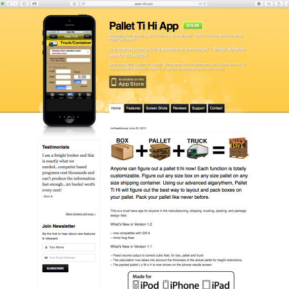 Pallet Ti Hi Website